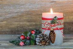 xmas подарка украшения рождества свечки предпосылки золотистый Стоковые Фото