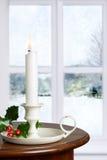xmas подарка украшения рождества свечки предпосылки золотистый Стоковое Изображение