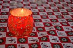 xmas подарка украшения рождества свечки предпосылки золотистый Стоковое Изображение RF