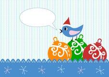 xmas приветствию карточки птицы иллюстрация штока