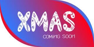 XMAS приходя скоро Стоковое Изображение
