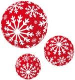 xmas снежинок шариков Стоковая Фотография