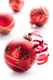 xmas шарика красный Стоковая Фотография