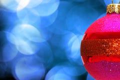 xmas шарика красный Стоковое Изображение RF