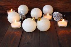 Xmas шарика рождества и счастливый Новый Год Стоковое Фото