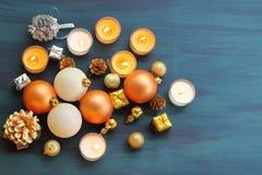 Xmas шарика рождества и счастливый Новый Год Стоковое Изображение RF