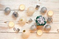 Xmas шарика рождества и счастливый Новый Год Стоковое фото RF