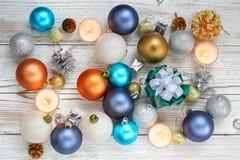 Xmas шарика рождества и счастливый Новый Год Стоковая Фотография