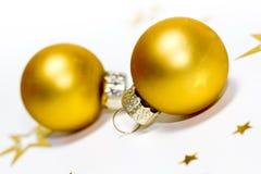 xmas шариков золотистый Стоковая Фотография RF