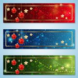 Christmas and New Year colorful luxury vector banners royalty free illustration