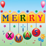 Xmas. Illustration of merry x mas greetings Stock Image