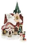 Xmas. Little house for christmas isolated on white background Stock Photo