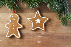 Xmas. Still life on wooden background royalty free stock image