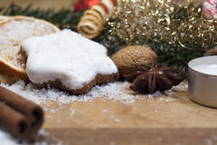 Xmas. Still life with sweets stock photography