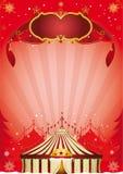 Плакат цирка Xmas Стоковые Фото
