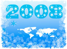 Xmas. Congratulatory New Year's composition in blue tonality vector illustration