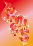 Xmas with 3d letters, vector Royalty Free Stock Photo