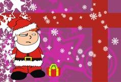 哀伤的Xmas圣诞老人孩子动画片表示背景 库存照片