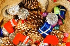 惊人的圣诞节背景,五颜六色的Xmas材料 免版税库存照片