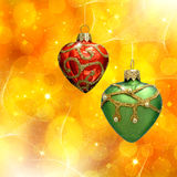 Xmas abstract with christmas decor Royalty Free Stock Image