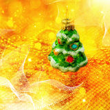 Xmas abstract with christmas decor Stock Images