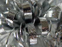 Xmas  Abstract Silver Bow Stock Photography