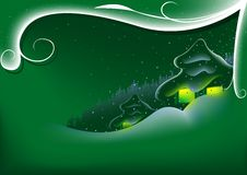 Xmas abstrato do verde ilustração do vetor