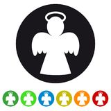 Xmas Angel Icon - Colorful Vector Illustration - Isolated On White. Background stock illustration