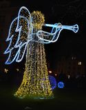 Xmas Angel Playing Trumpet do Natal Imagem de Stock