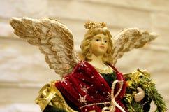 Xmas angel statue Royalty Free Stock Photo