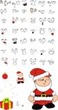 Xmas angry santa kid cartoon expression set Royalty Free Stock Photography
