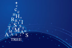 Xmas błękitny drzewo Zdjęcie Stock