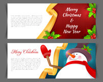 Xmas back with snowman Royalty Free Stock Photography