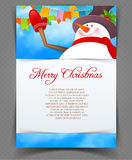 Xmas back with snowman Royalty Free Stock Photo