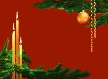 Xmas backgroud with candles.  Royalty Free Stock Images
