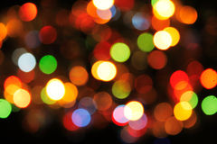 Xmas background. Color xmas background from the color lights stock photo