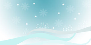 Xmas background. Computer generated illustration with fir tree on blue background Royalty Free Stock Image