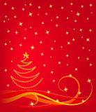 Xmas background. Red xmas background in vector Royalty Free Stock Images