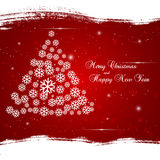 Xmas background with abstract Christmas tree. Royalty Free Stock Images