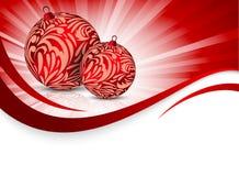 Xmas background with balls Royalty Free Stock Image