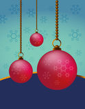 Xmas. Background with baubles for Christmas Royalty Free Stock Image