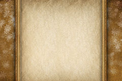 Xmas background - blank paper sheet and snowflakes Stock Images