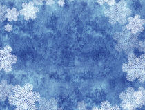 Xmas background of blue color with snowflakes Royalty Free Stock Image
