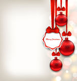 Xmas Background with Celebration Card and Glass Stock Photography