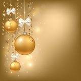 Xmas background. Christmas background with golden baubles Royalty Free Illustration
