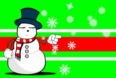 Xmas background4 dos desenhos animados do homem da neve Foto de Stock