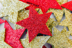 Xmas background with glittering stars Royalty Free Stock Photography