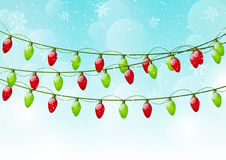 Xmas background with light bulbs Stock Photography