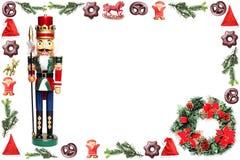 Xmas background with nutcracker Royalty Free Stock Image