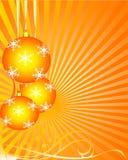 Xmas background orange Royalty Free Stock Image